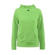 Geocaching Fleece hoodie vrouwen limoen