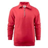 Geocaching Sweater met rits heren rood