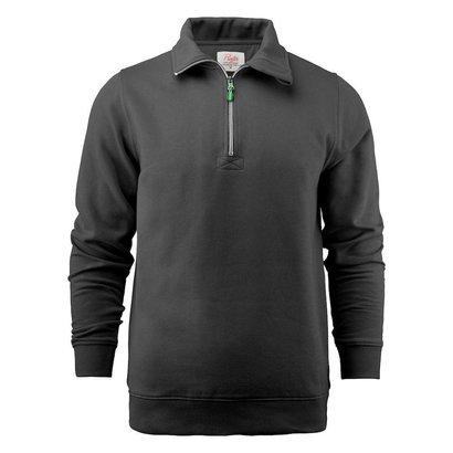 Geocaching Sweater met rits heren zwart