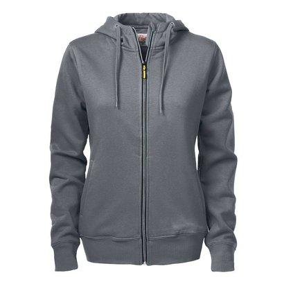 Geocaching Hooded jacket dames staalgrijs