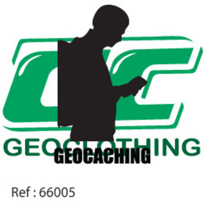 Geocaching man met rugzak