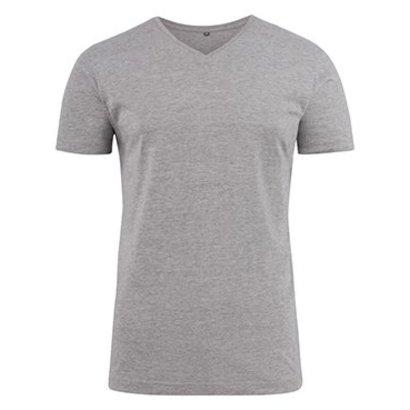 Geocaching v-neck t-shirt heren grey