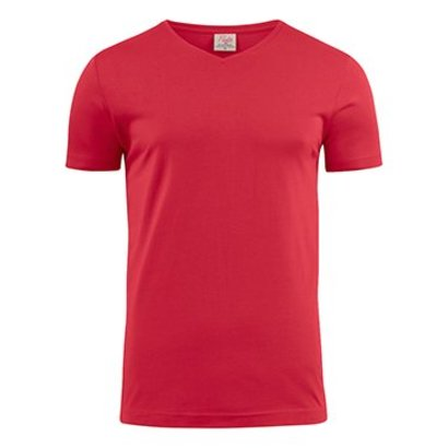 Geocaching v-neck t-shirt heren rood