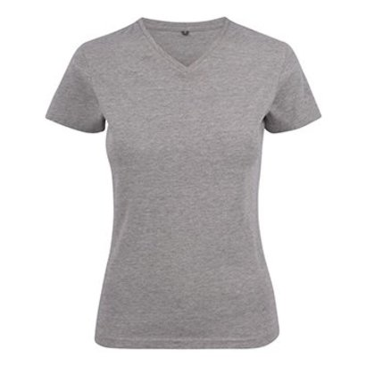 Geocaching v-neck t-shirt dames grey