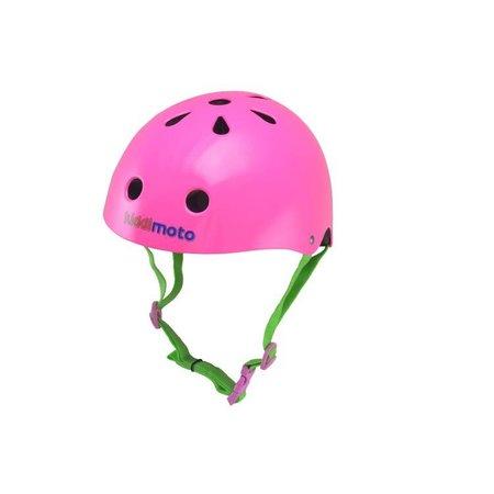 Kiddimoto Kinderhelm Neon Pink Small