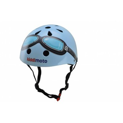 Kiddimoto Kinderhelm Blue Goggle Small