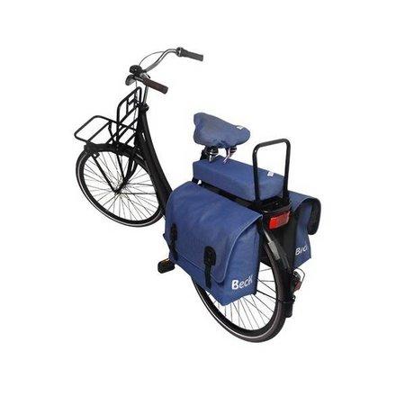 Hooodie Cushie Jeans - zacht en stoer fietskussentje voor op bagagedrager