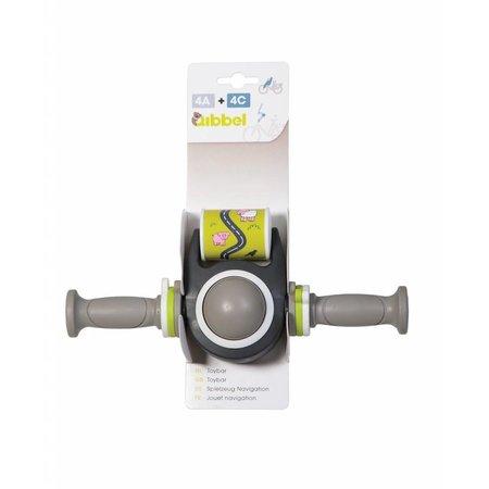 Qibbel Toybar grijs met handvatten - voor leuke afleiding en 'meesturen'