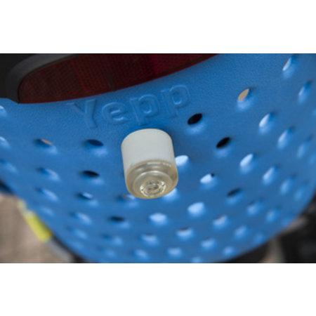Yepp Achterlicht Delight No.1 voor de Maxi - magnetisch - knipperstand - USB oplaadbaar - Zilverkleurig