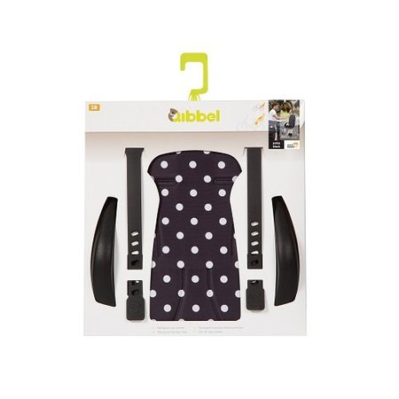 Qibbel Stylingset Luxe Achterzitje Polka Dot Zwart