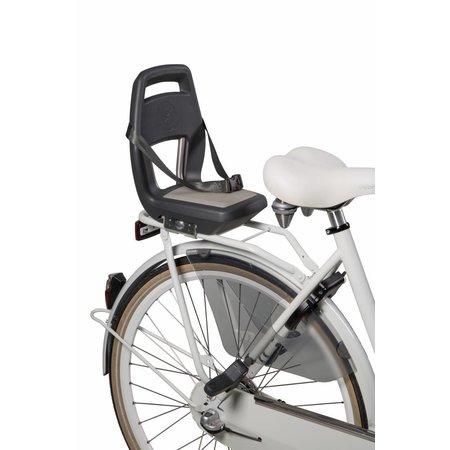 Qibbel 6+ Junior seat Grijs - compleet met voetsteunen, gordel en bagagedragerbevestiging