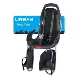 Qibbel ToGo Achterzitje - Bagagedrager - Antraciet/Urban New York Uni Black
