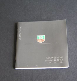 Tag Heuer Instructions Chronograph 1/10th Second Booklet