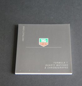 Tag Heuer Instructions Formula 1 Quartz Watches & Chronographs Booklet