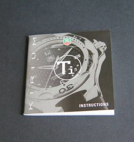 Tag Heuer Instructions Kirium Ti5 Booklet