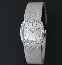 Vacheron Constantin 18k white gold silver dial diamond bezel