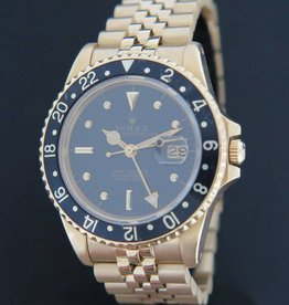 Rolex  Oyster Perpetual Date GMT-Master Yellowgold ''Nipple Dial''