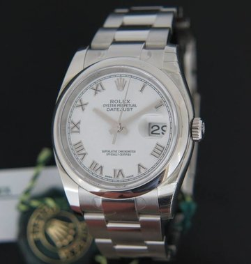 Rolex  Oyster Perpetual Datejust White Dial NEW