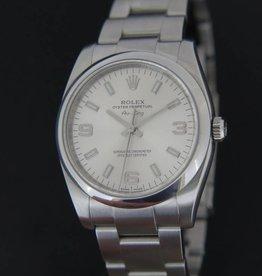 Rolex  Air King 3 6 9 Silver Dial 114200