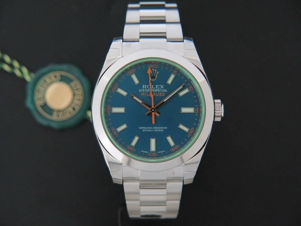 Rolex  Rolex Milgauss GV Blue NEW 116400GV