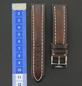 Breitling Calf Leather strap 20-18 Brown + Breitling clasp