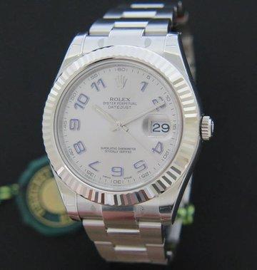 Rolex  Datejust II Rhodium Arabic 116334 NEW