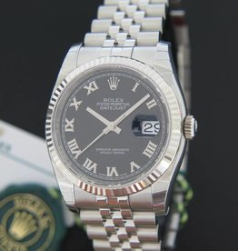 Rolex  Datejust Black Roman Dial NEW