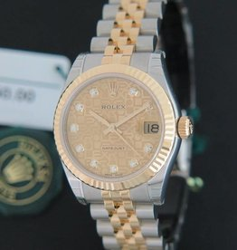 Rolex  Datejust Gold/Steel Diamonds  178273 NEW