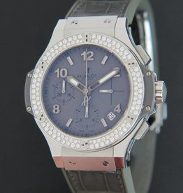 Hublot Big Bang 41mm Earl Gray Diamond Chronograph