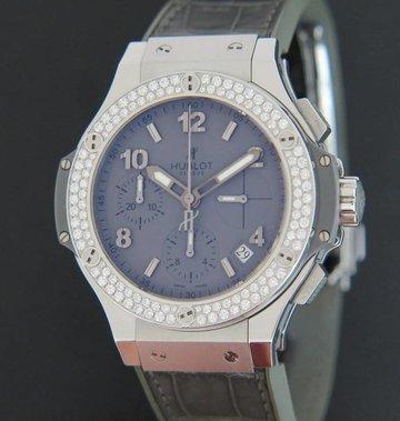 Hublot Big Bang 41mm Earl Gray Diamond Chronograph