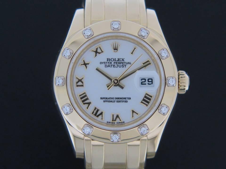 Rolex  Rolex Pearlmaster Yellowgold Diamonds 80318