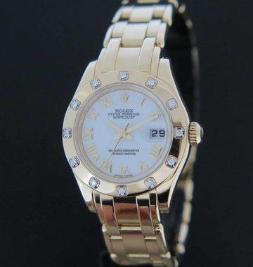 Rolex  Pearlmaster Yellowgold Diamonds 80318
