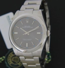 Rolex  Oyster Perpetual Rhodium NEW 114300