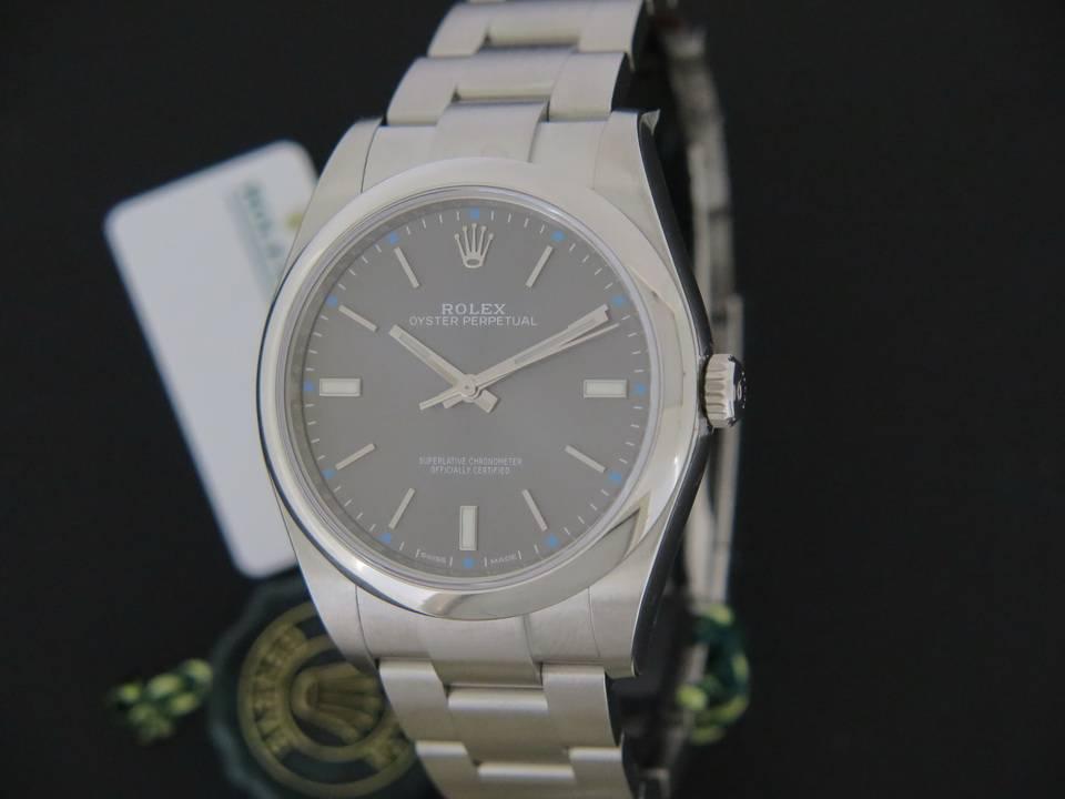 Rolex  Rolex Oyster Perpetual Rhodium NEW 114300