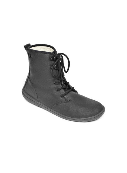 Vivobarefoot Gobi Hi Top Ladies Eco Canvas Black