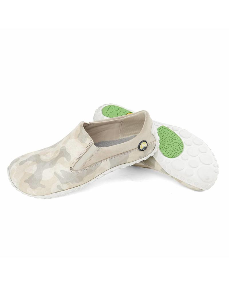 Joe Nimble mellowToes dames beige/camouflage leer