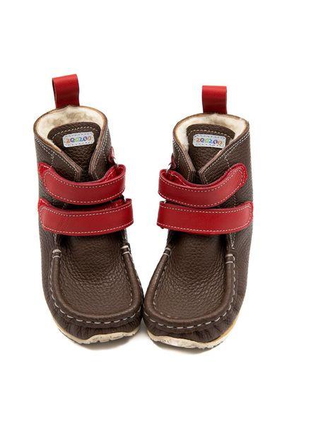 Zeazoo YETI Bruin met rood klittenband