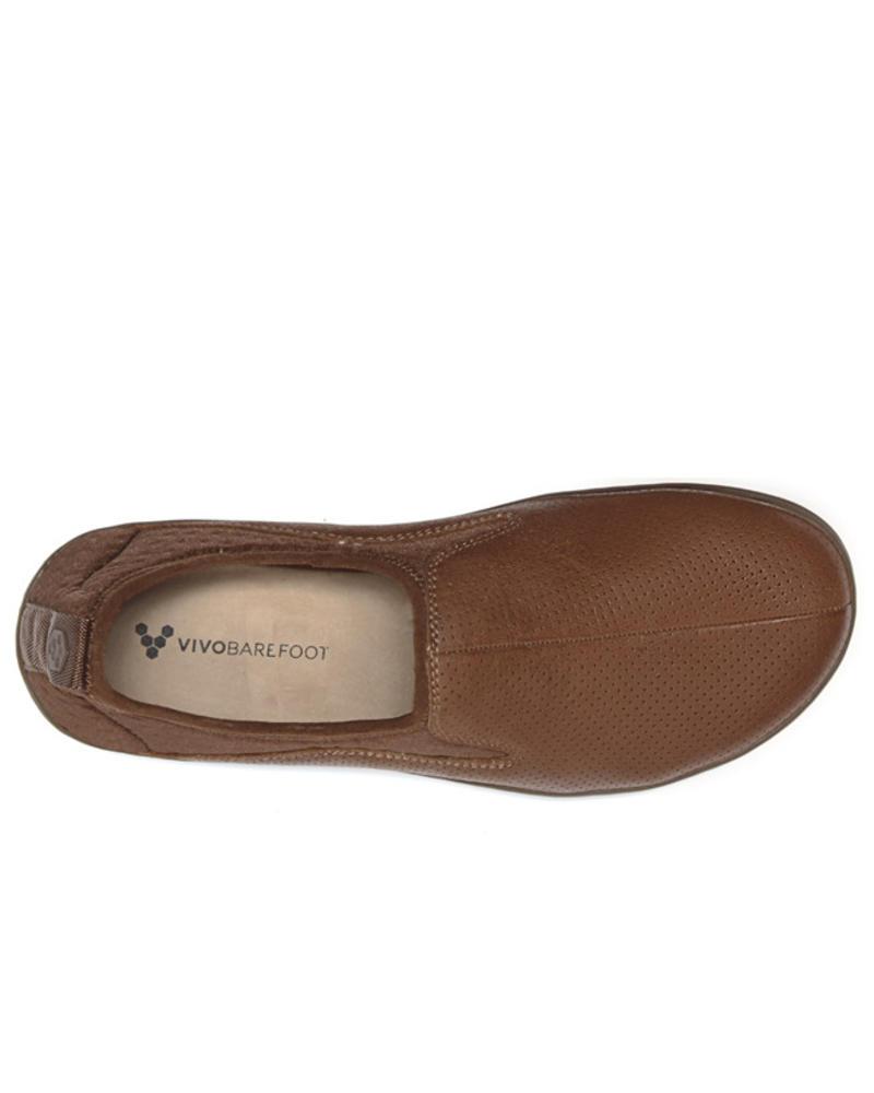 Vivobarefoot Slyde Leather Men Tobacco