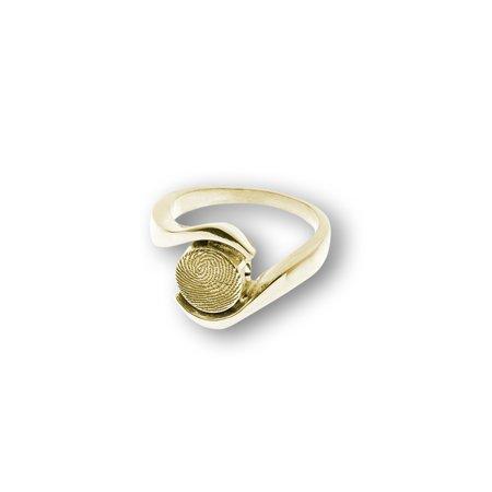 Ring Umarmung mit Fingerabdruck 8 mm.