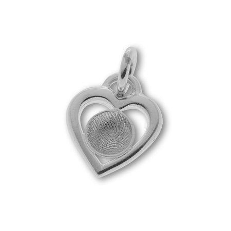 Coeur avec impreinte digital profond Ø 10 mm.