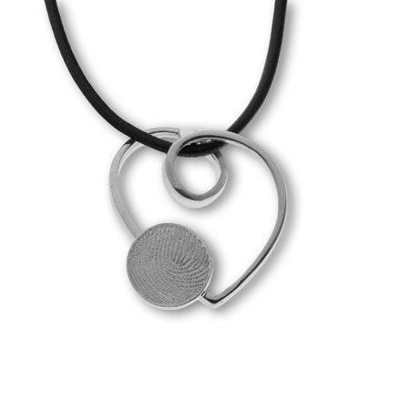 Coeur avec impreinte digital Ø 10 mm., artistique