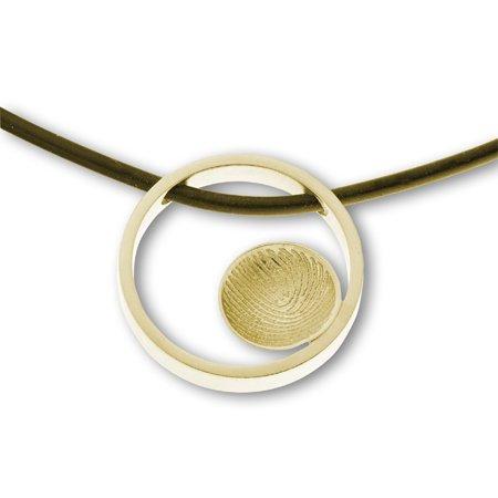 Anhänger Ring groß mit Fingerabdruck sphärisch