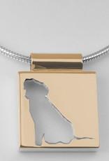 Quadrat, offenes Profil mit Rand und breite Öse