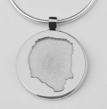 Pendentif ronde avec silhouette abaissé