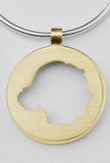 Round pendant with full profile, edged