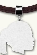 Profil Silhouette, platte, nach rechts schauend