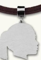 Silhouette complèt, plaque, face à la droite