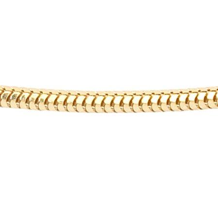 Vossenstaart collier - Ø 1,4 mm. - geelgoud