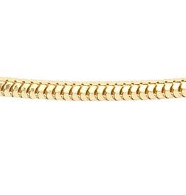 Foxtail chain - Ø 1,8 mm. - yellow gold