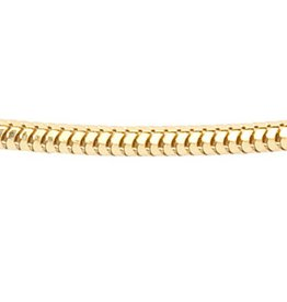 Vossenstaart collier - Ø 1,8 mm. - geelgoud